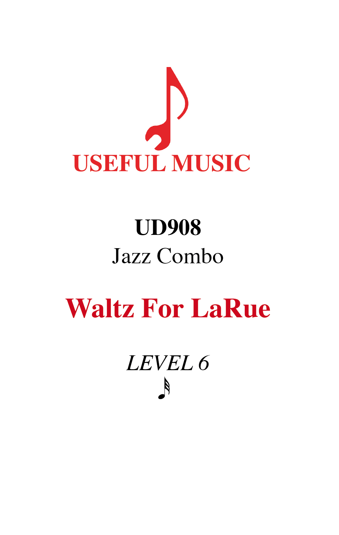 Waltz for LaRue - Jazz Combo