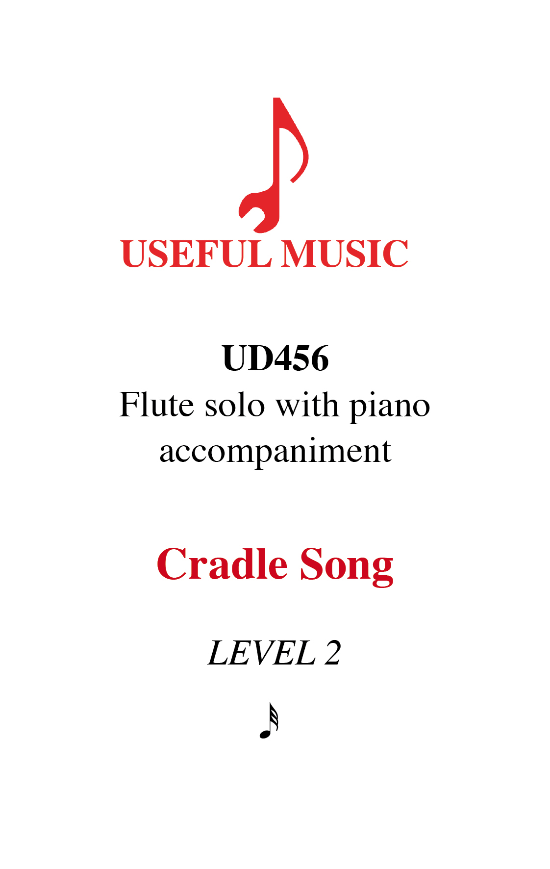Cradle Song - flute with piano accompaniment