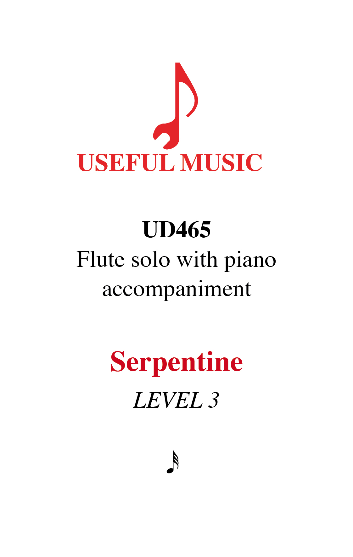 Serpentine - flute with piano accompaniment