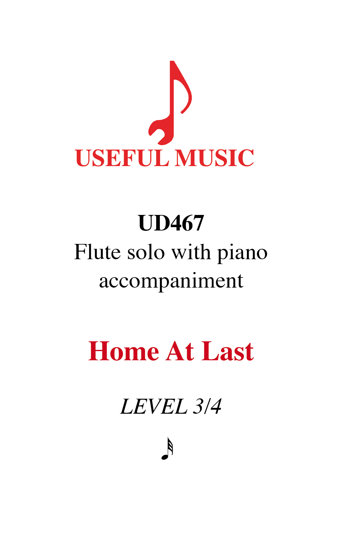 Home at Last - flute with piano accompaniment