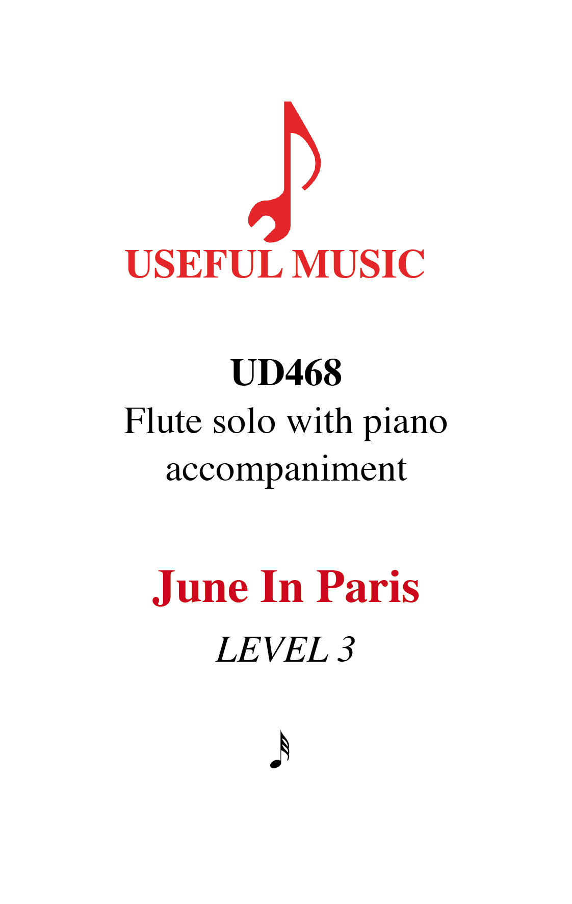 June in Paris - flute with piano accompaniment