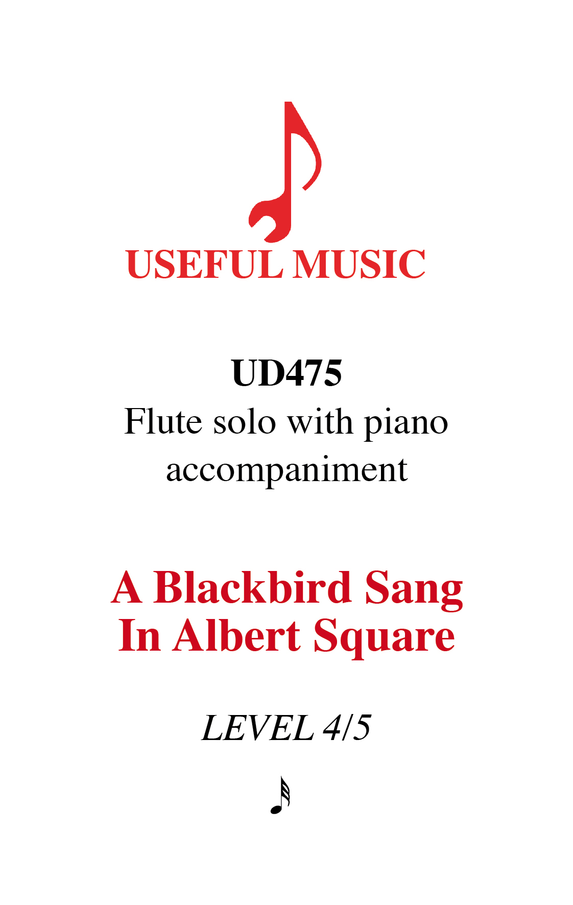 A Blackbird Sang in Albert Square - flute with piano accompaniment